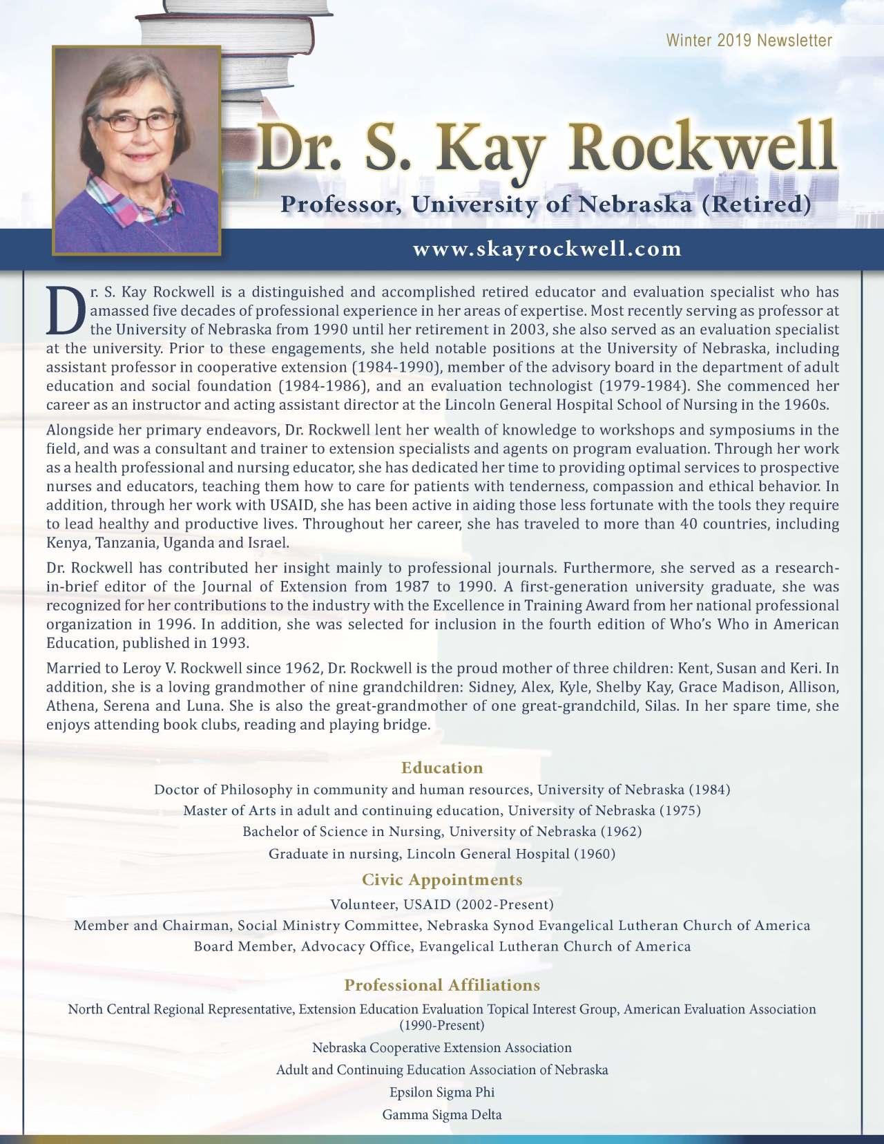 Rockwell, S. Kay 3694538_22438444 Newsletter REVISED