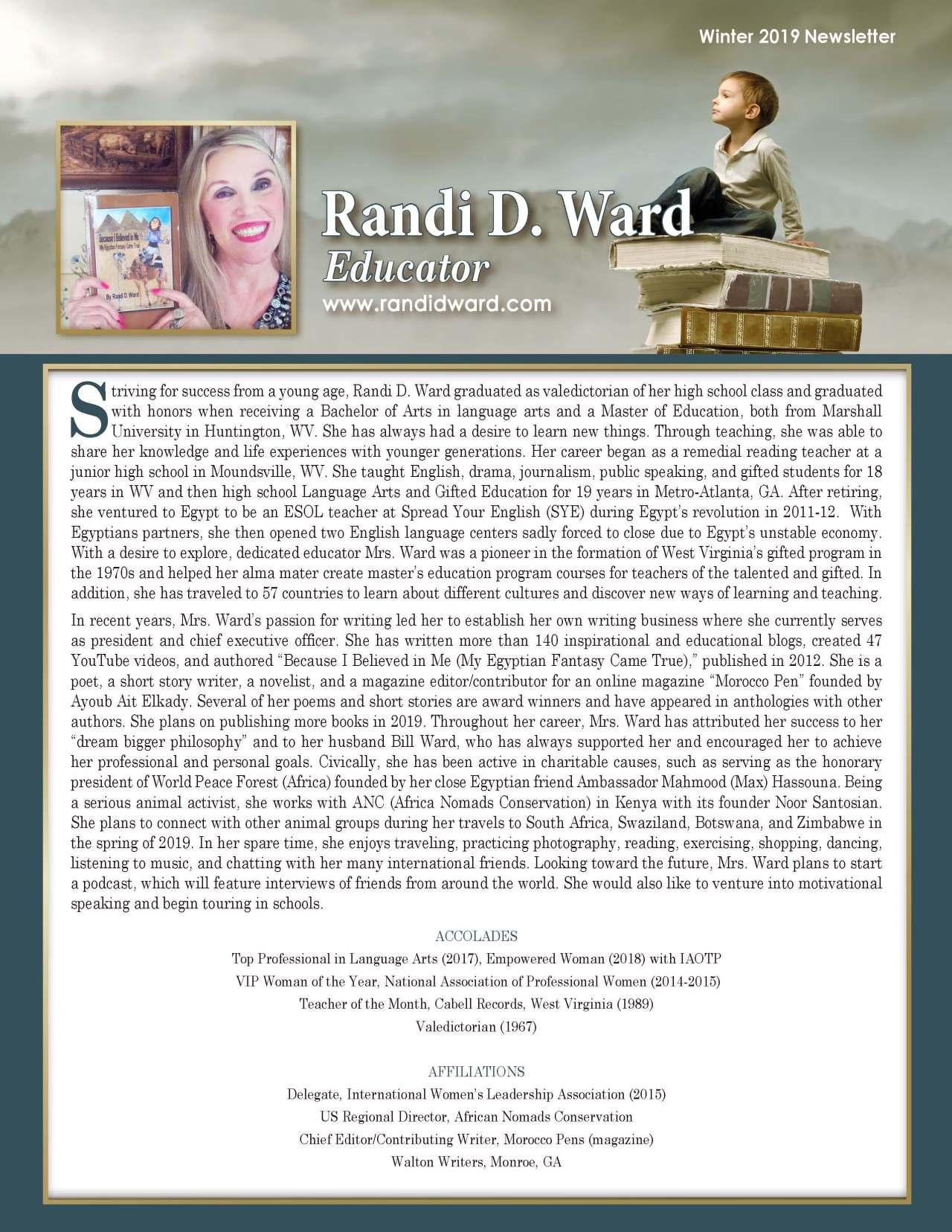 Ward, Randi 3656758_4003656758 Newsletter REVISED
