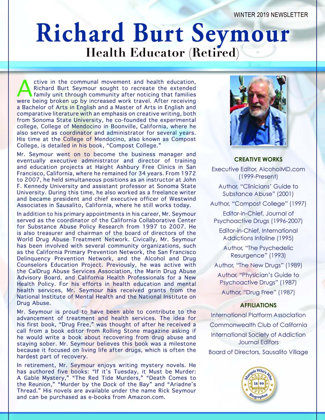 Seymour, Richard 4115057_20414819 Newsletter REVISED