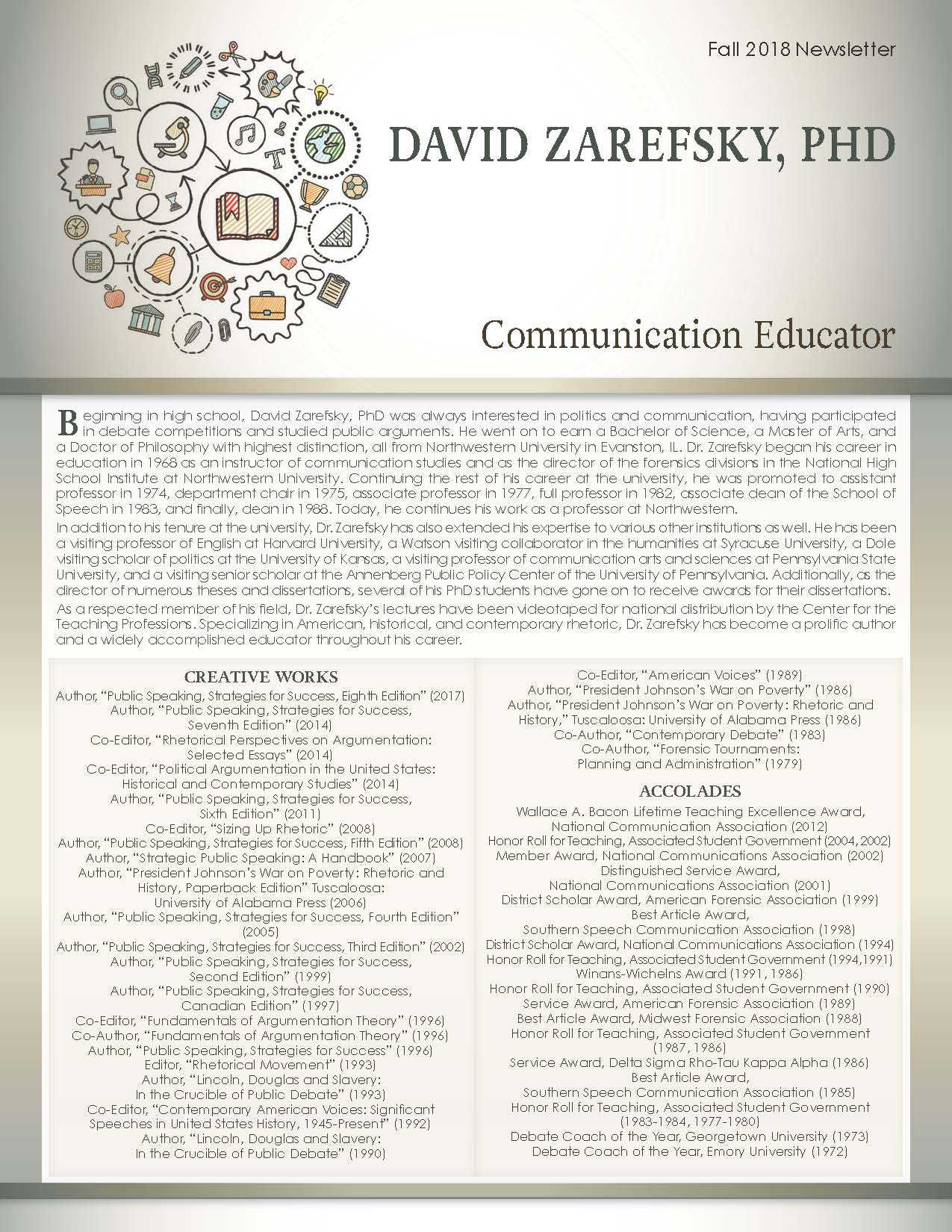 Zarefsky, David 4119338_16745581 Newsletter