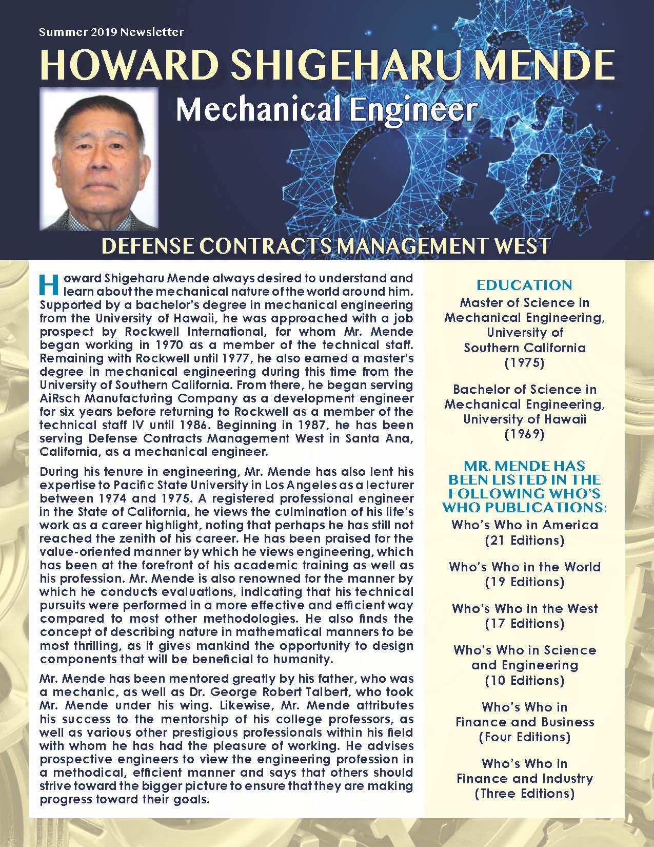 Mende, Howard 2132674_25275091 Newsletter