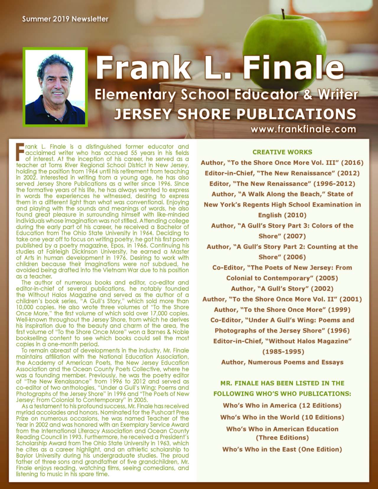 Finale, Frank 3993361_25956384 Newsletter REVISED