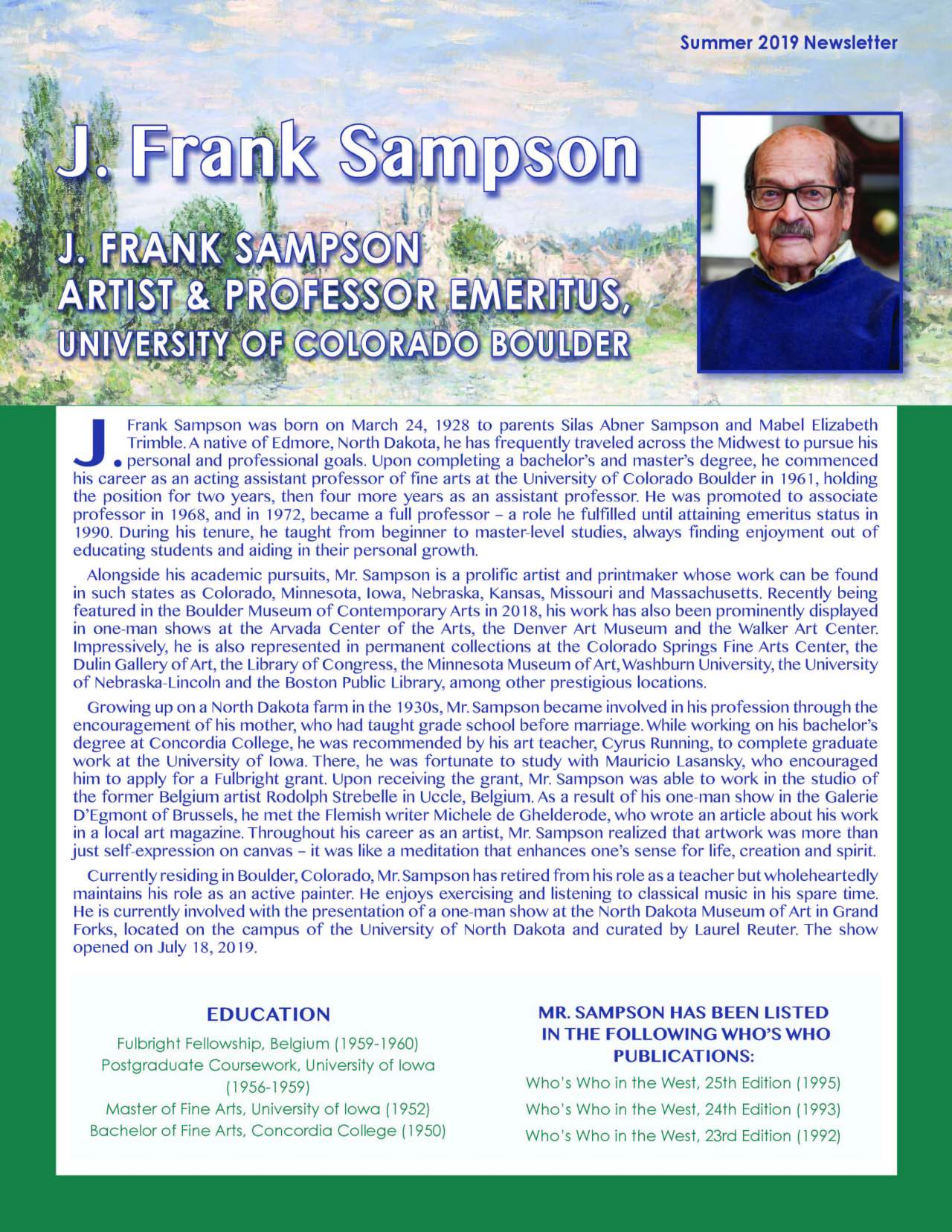 Sampson, J. Frank 4167488_20074340 Newsletter REVISED