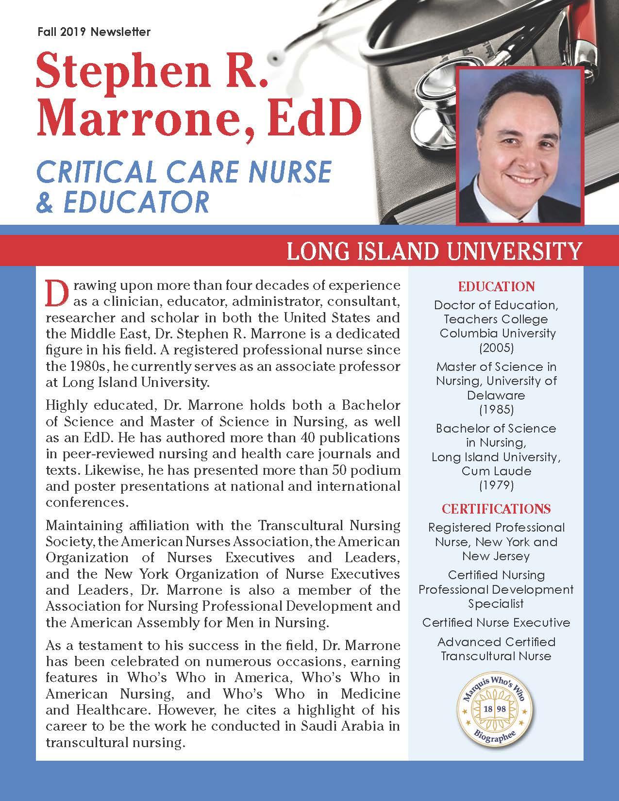 Marrone, Stephen 4142104_27434992 Newsletter