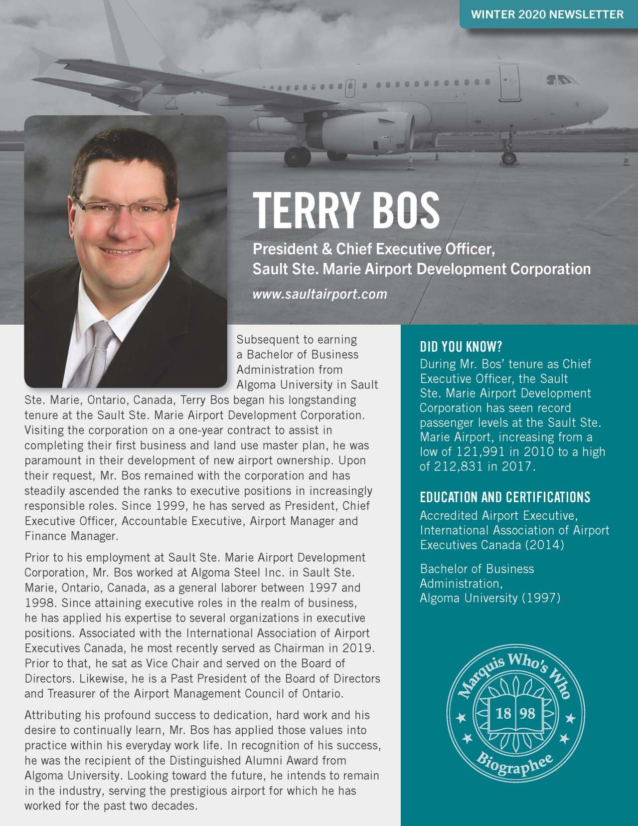 Bos, Terry 4763245_4004763245 Newsletter REVISED