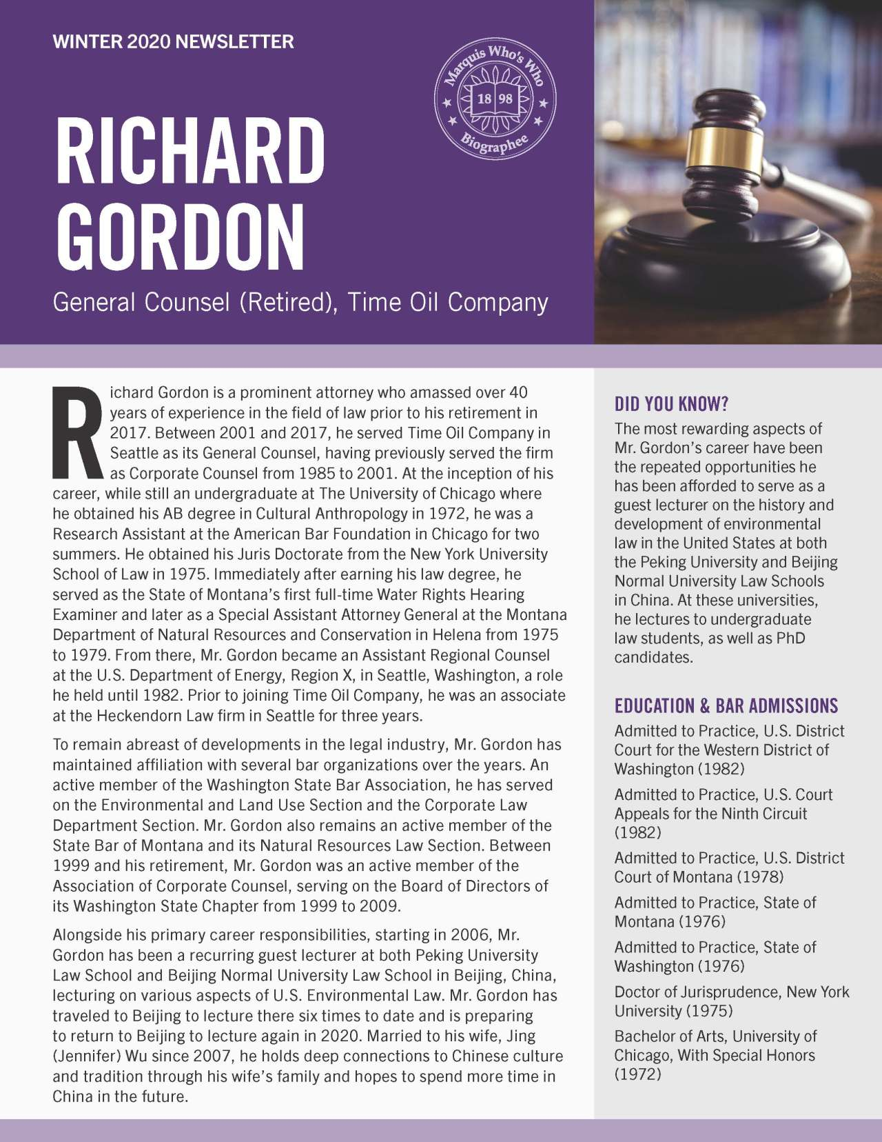 Gordon, Richard 4788043_22893424 Newsletter REVISED