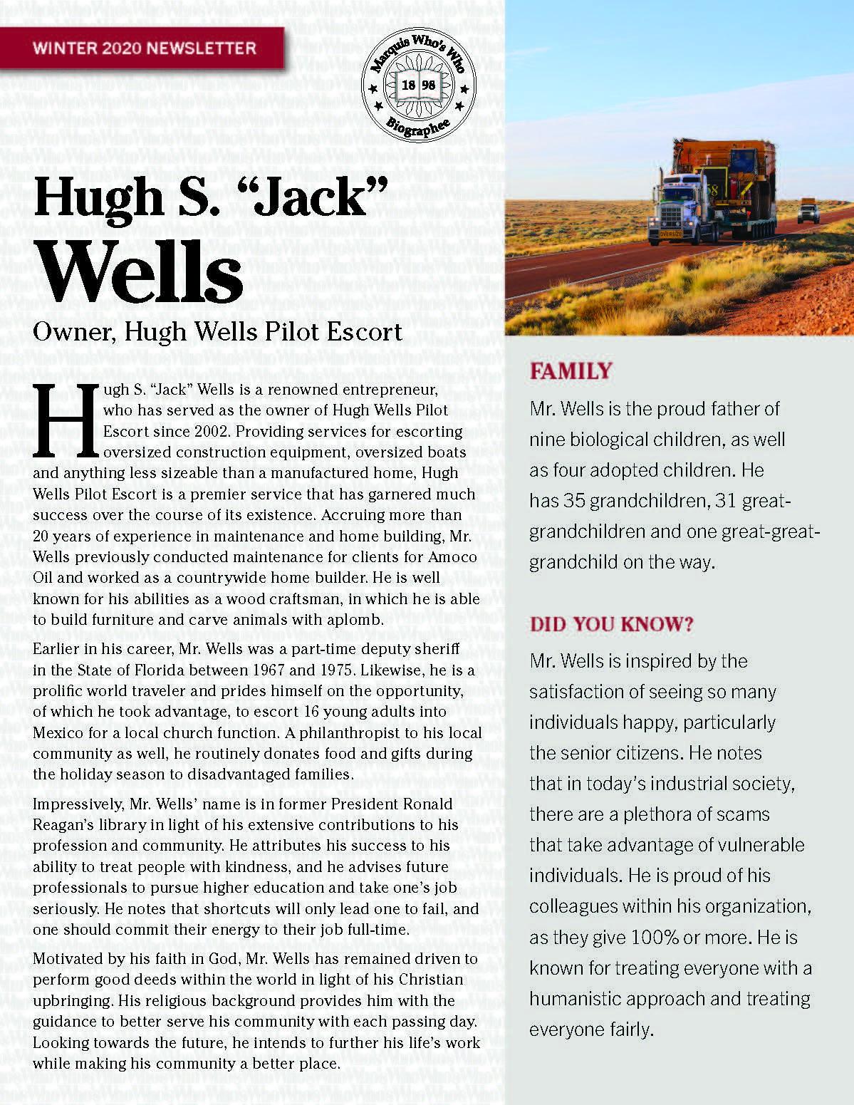 Wells, Hugh 4766029_4004766029 Newsletter