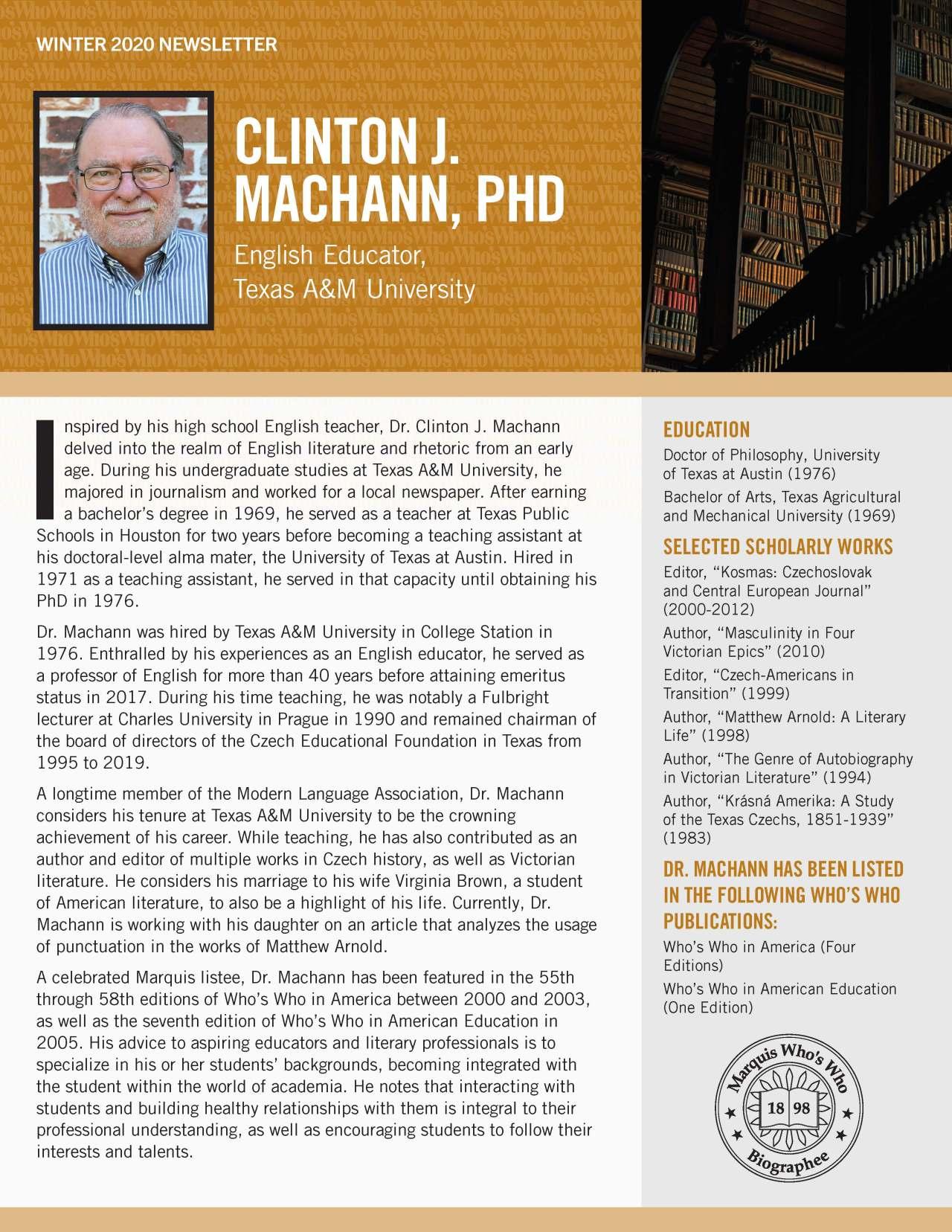 Machann, Clinton 4379540_28581263 Newsletter