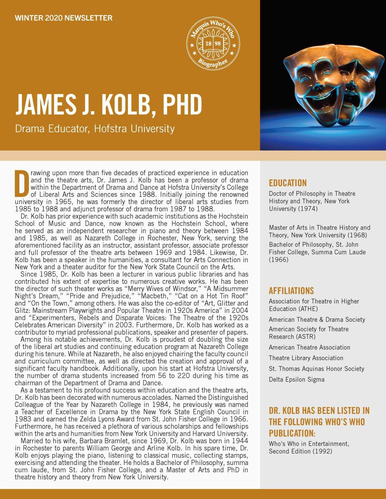 Kolb, James 4802403_19475210 Newsletter