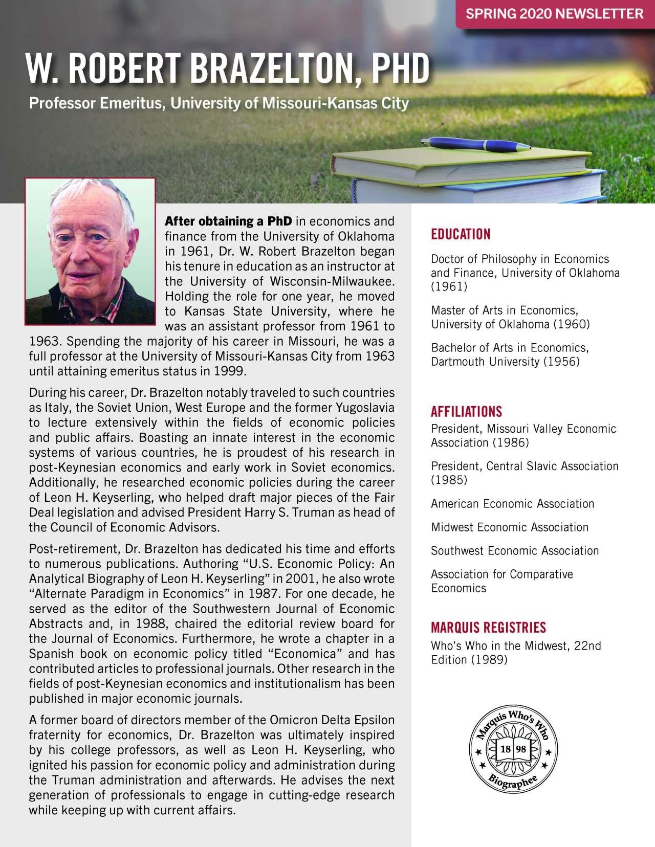 Brazelton, W. Robert 4335730_17083981 Newsletter