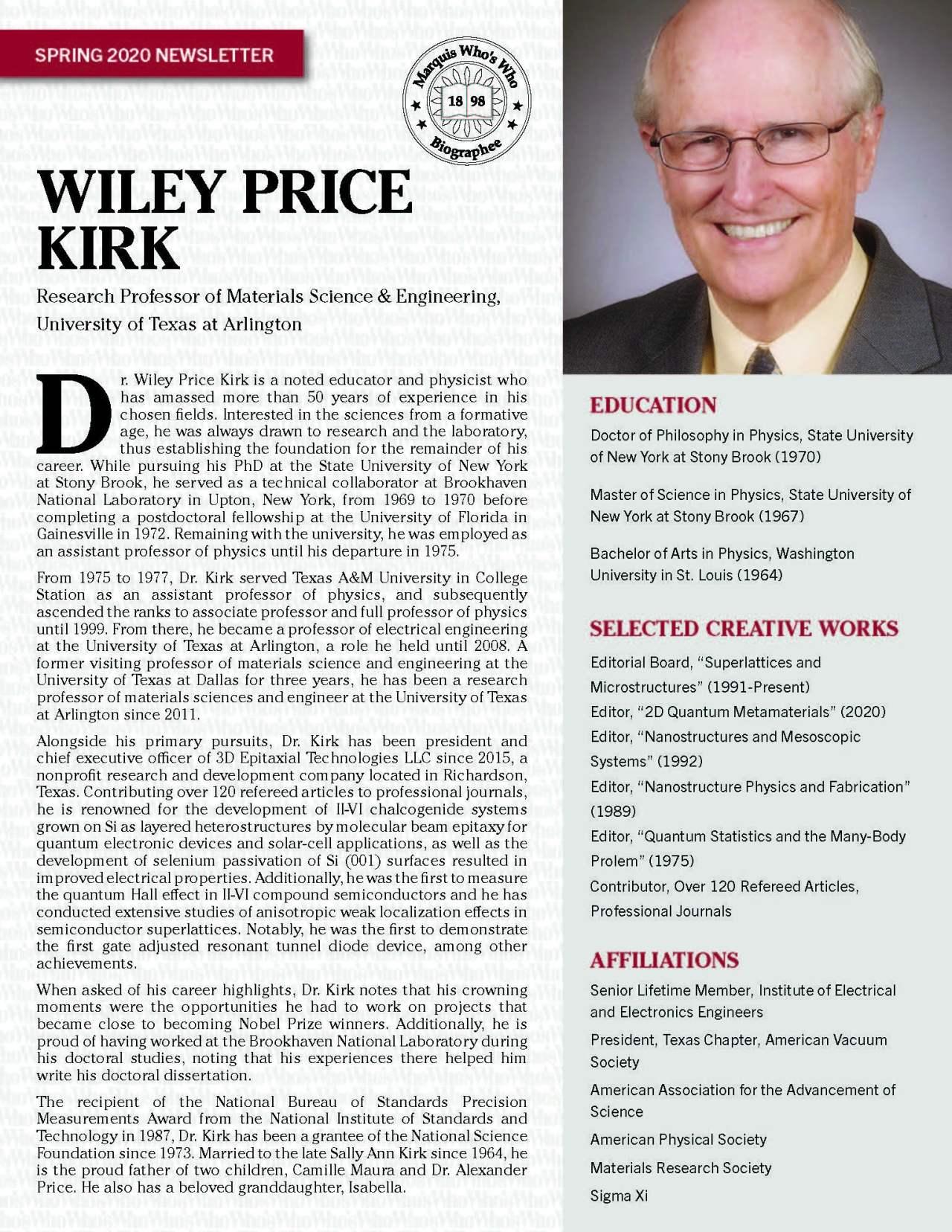 Kirk, Wiley 4820493_23528624 Newsletter