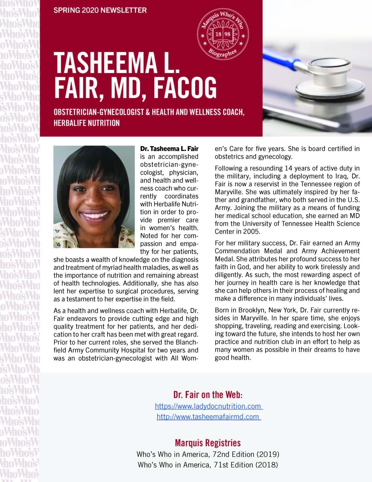 Fair, Tasheema 773298_40004111 Newsletter