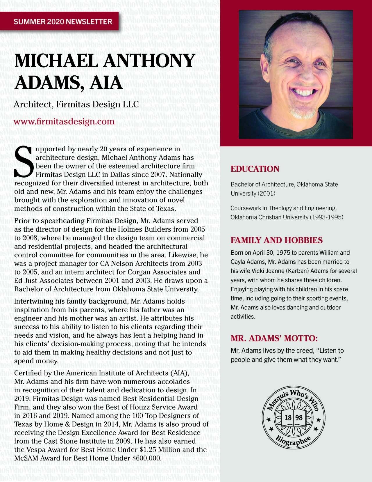Adams, Michael 4804525_4004804525 Newsletter