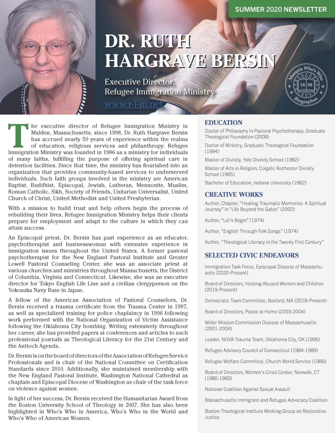 Bersin, Ruth 3671956_25968678 Newsletter