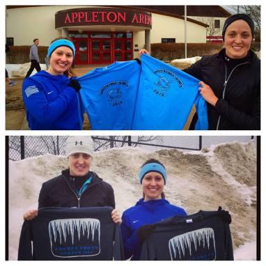 Savannah and Kelly Mcnaughton at the Frozen Foote Series 2014 and 2015