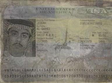 Passport of Saeed al-Ghamdi