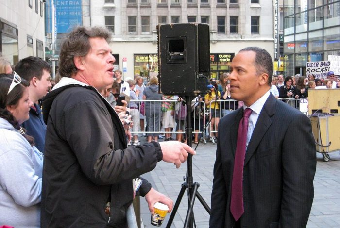 Lester Holt in Today Show Plaza, New York City.Photo credit: Marques Stewart / Flickr (CC BY-NC 2.0)