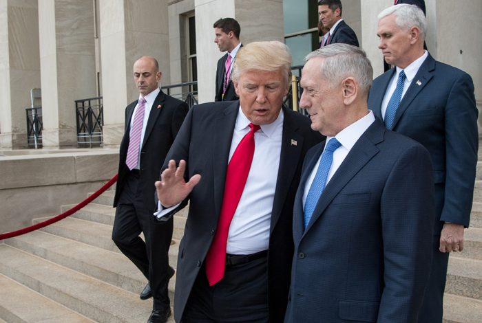 Donald Trump, James Mattis, Mike Pence