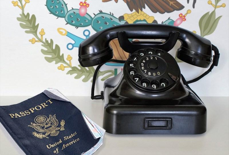 Mexico, phone, passport