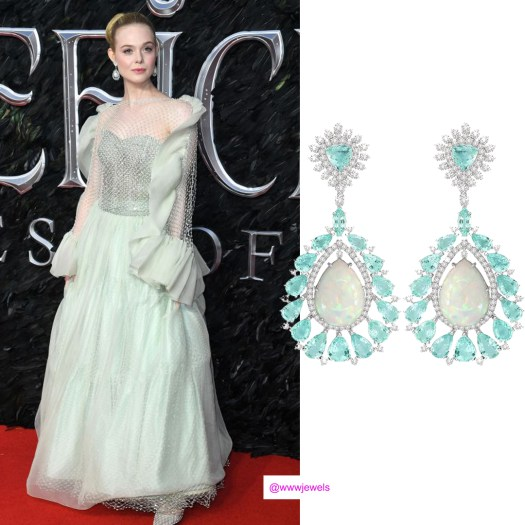 Elle Fanning S Earrings At The Maleficent Mistress Of Evil