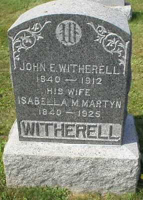 Gravestone of the Witherells.