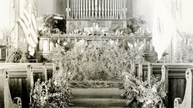 Emmy's church decorations, 1940s.