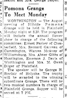 Emmy is appointed to the flower show committee, as reported in The Berkshire Eagle, August 4, 1950.