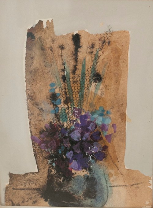 "Birthday Flowers, 1978, 6"" x 8"""