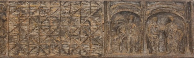 Carved Chestnut Plank, detail