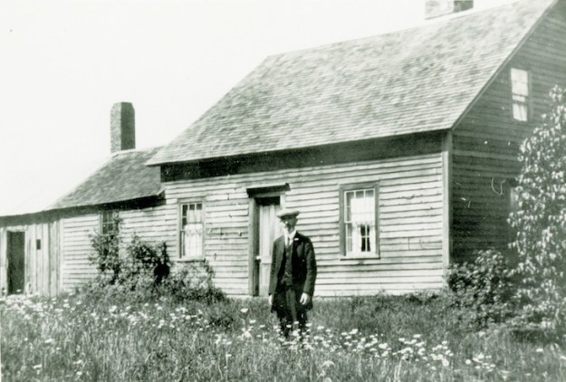 Sam Hills in front of his house c. 1925.