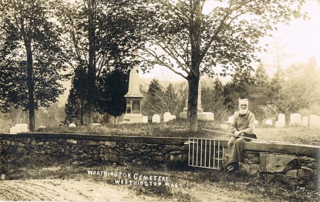 Old postcard of Ringville Cemetery.
