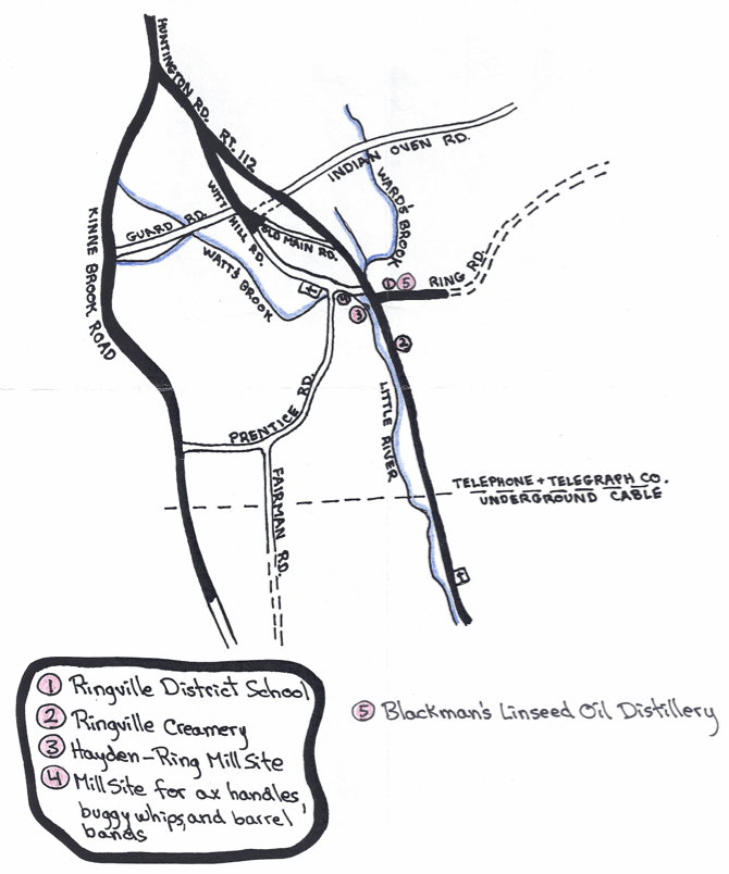 Map of the Ringville ruins by Cath Whitcomb.