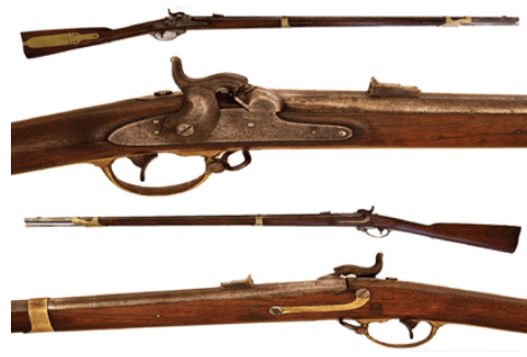 46th Mass. marked Mississippi rifle.