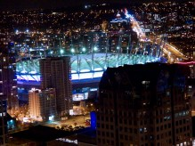 BC Place Stadium at Night