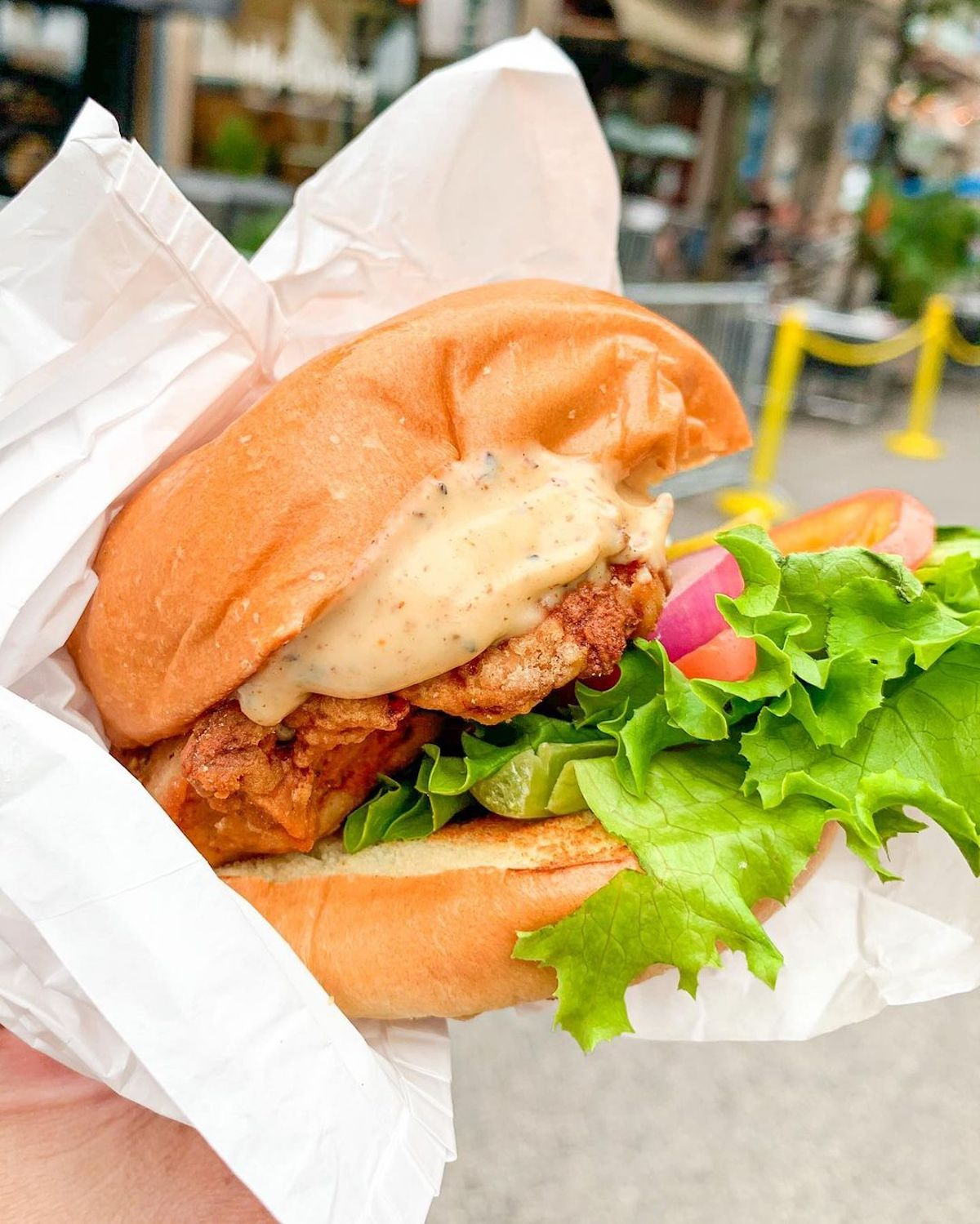 HipCityVeg to Sling Burgers in Union Square