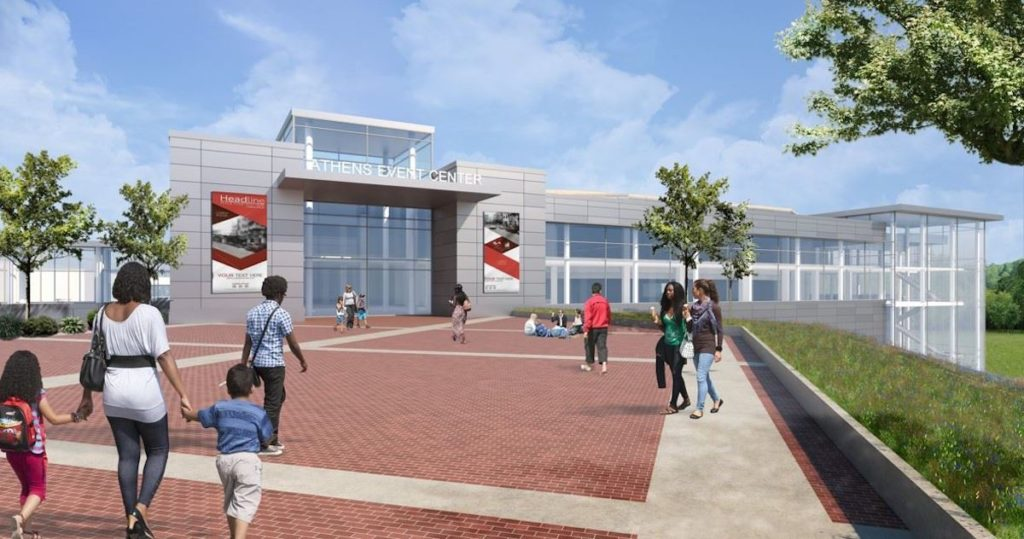 Classic Center Arena Project Design Shines Light on the Drastic Changes Poised for East Downtown Athens Rendering