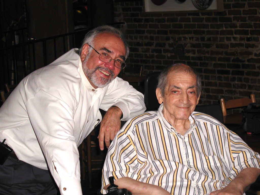 Photo: Angelo Fuster | Angelo Fuster poses with the late Manuel Maloof in 2003 for Maloof's 80th birthday.