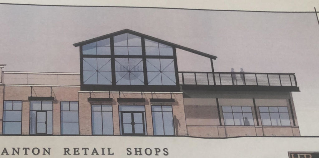 An artist's rendition of Riverstone Corner Bistro's new rooftop