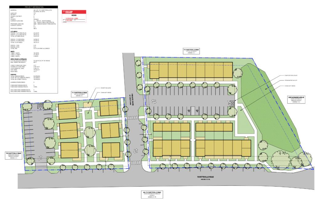 681 Fayetteville Site Plan