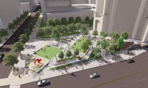 Bank of America Plaza Greenspace Rendering