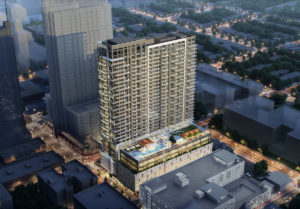 PMG, Greybrook Acquire 811 Peachtree St. NE for $20.3M to Develop Society Atlanta - Rendering 1