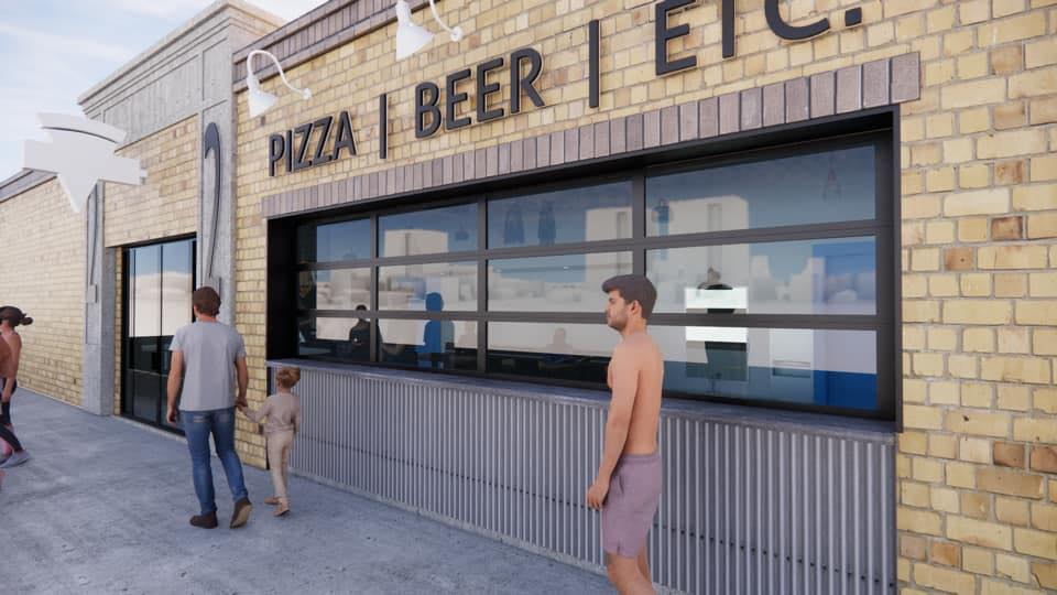 An artist's rendering of the yet-to-open 22nd Street Pizza