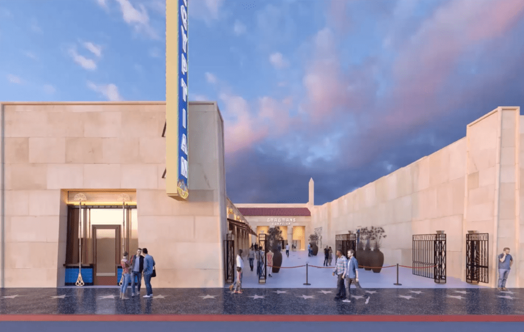 Netflix Egyptian Theatre Outside Rendering