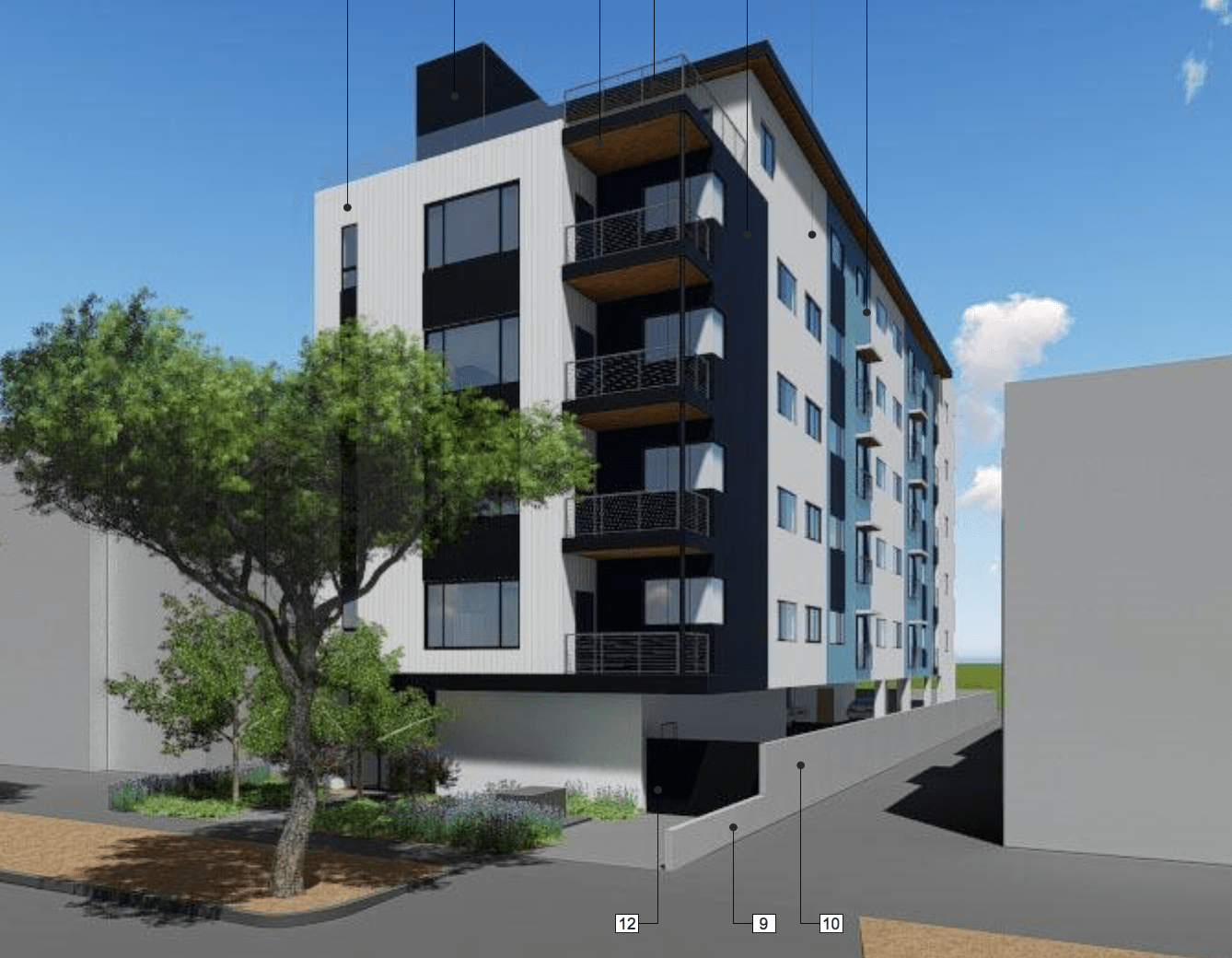 554 North Alexandria Ave. Hollywood Rendering