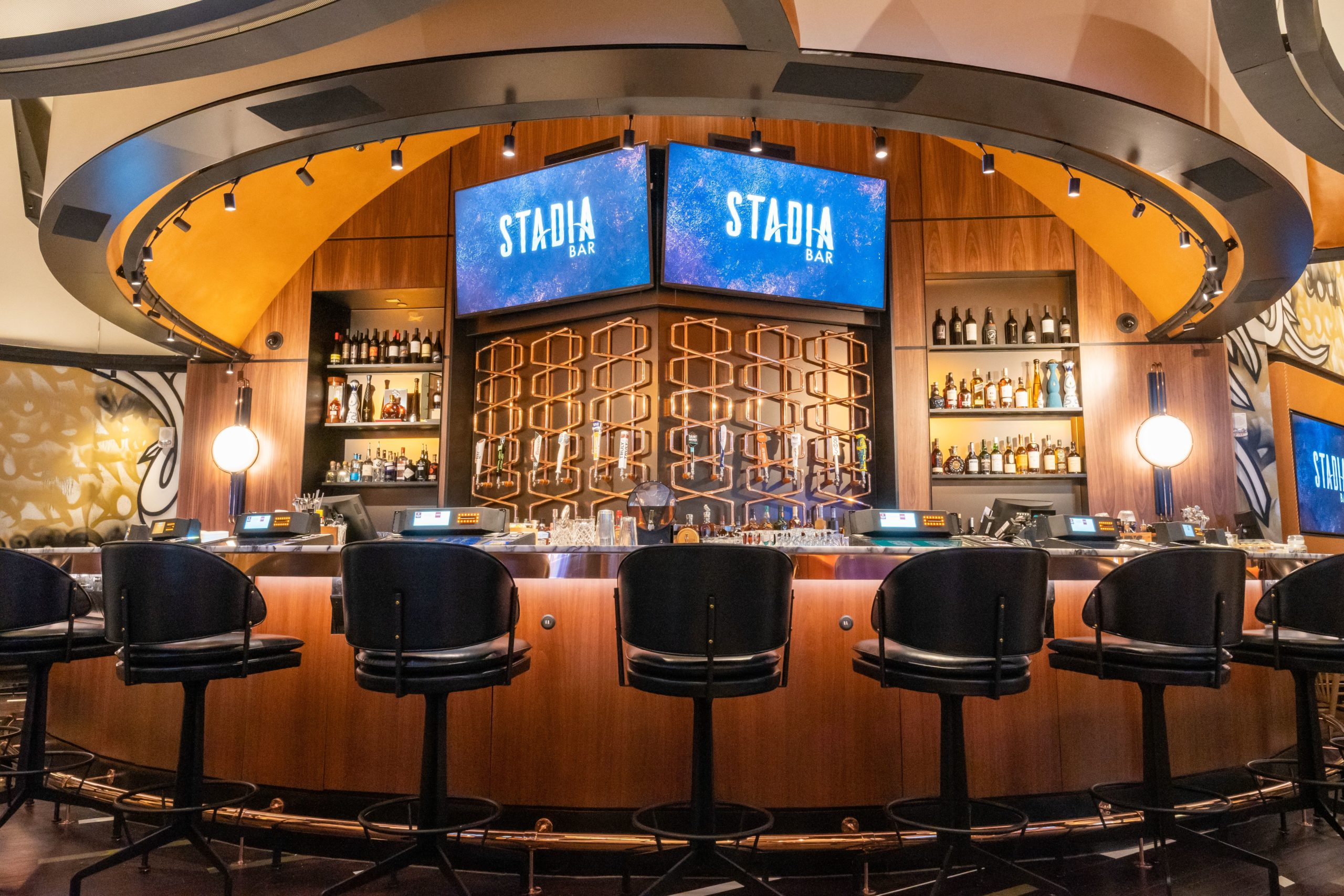It's Game On at Extraordinary New Bar & Lounge at Caesars Palace