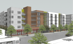 Plans To Raze Historic American Legion Hall, Build Affordable Housing Approved - Rendering