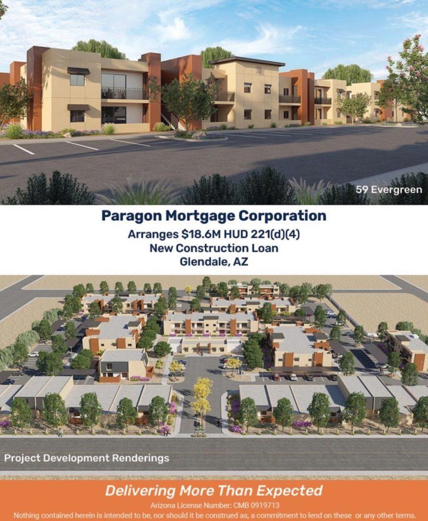 Paragon Mortgage Arranges Loan for Development of Glendale Land