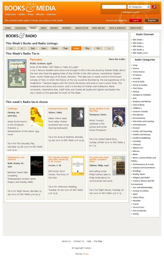Books & Media category landing page
