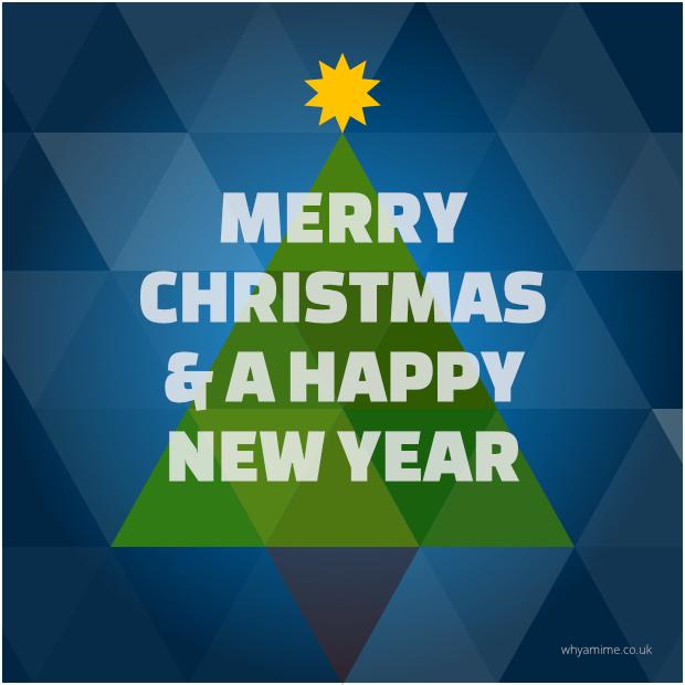 Christmas card designed using Affinity Designer