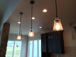 Kitchen Island Pendants with Edison Bulbs